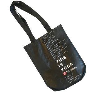 "Lululemon Reusable Bag - 9 1/4""x12""x4 1/2"" - Black"